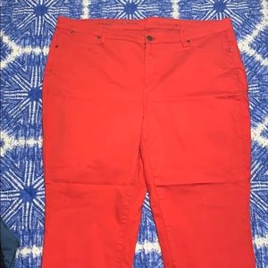 Talbots flawless 5 pocket slim cut RED jeans